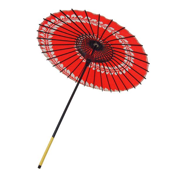 こども用和傘 藤渦 エンジ