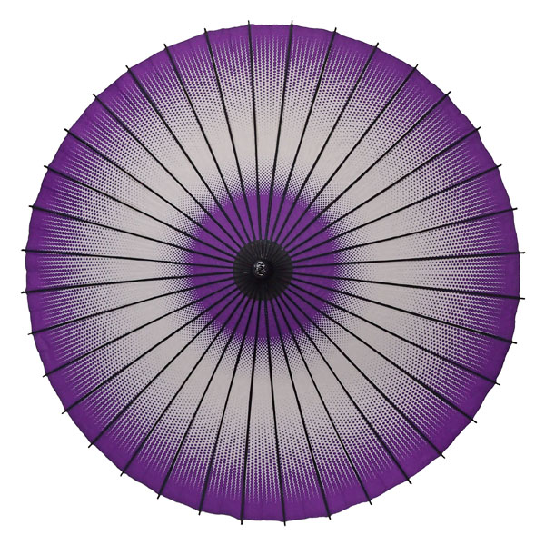 紙舞日傘 細点蛇の目 紫