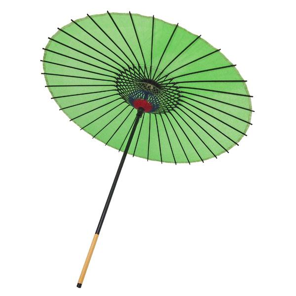 紙舞日傘 尺5 無地 若草
