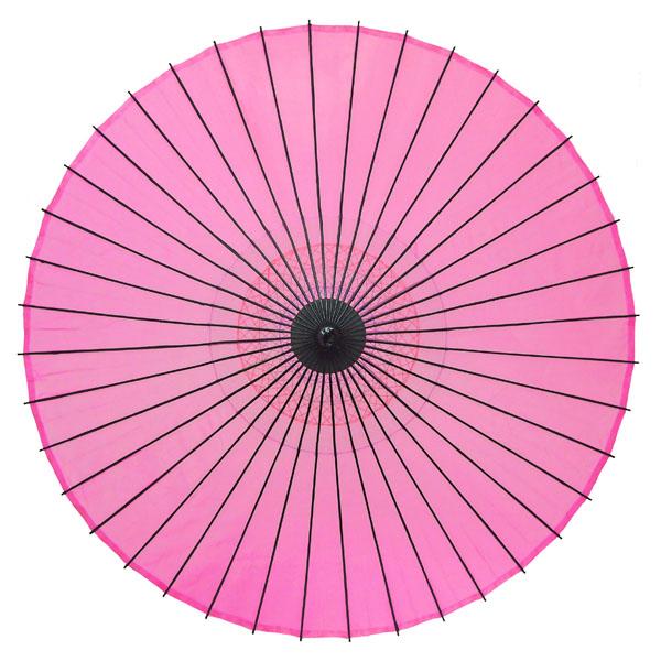 絹舞傘 無地 ピンク