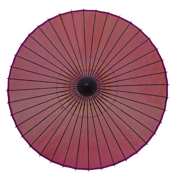 絹舞傘 無地 赤紫