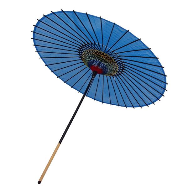 絹舞傘 無地 水色