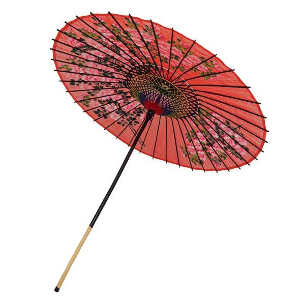 絹舞傘 桜絵 赤