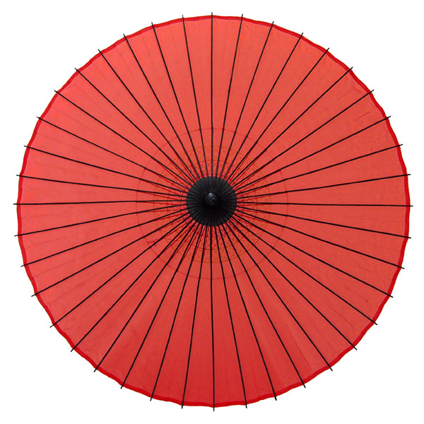 絹舞傘 無地 赤