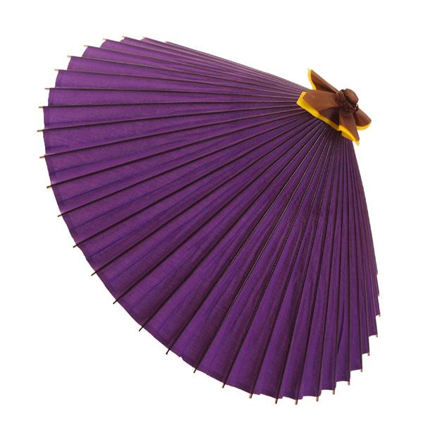 布傘 無地 紫