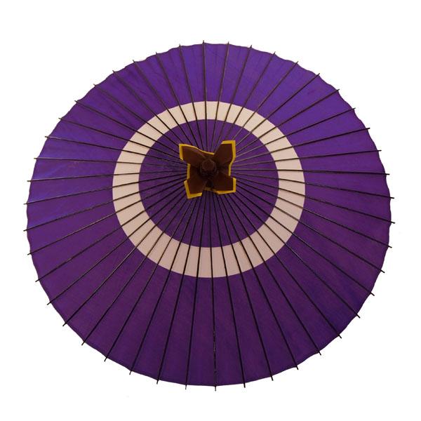 布傘 蛇の目柄 紫