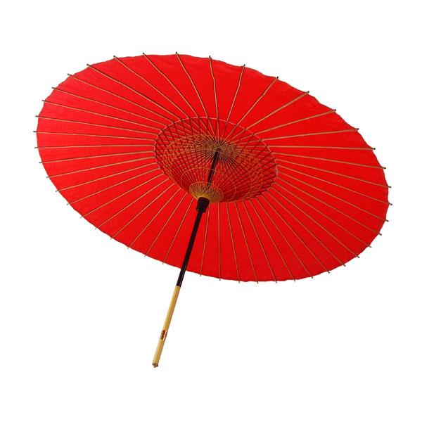 布傘 無地 赤