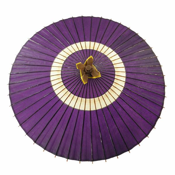 蛇の目傘 蛇の目柄 紫