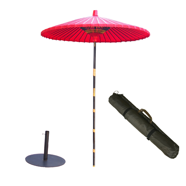 野点傘2.5尺 丸型スタンドセット