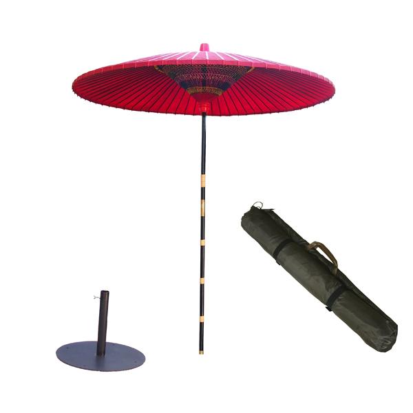 野点傘3.5尺 丸型スタンドセット