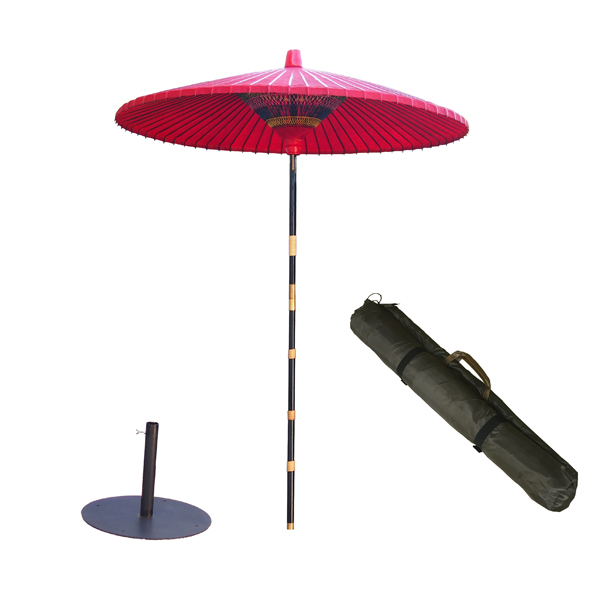 野点傘3.0尺 丸型スタンドセット