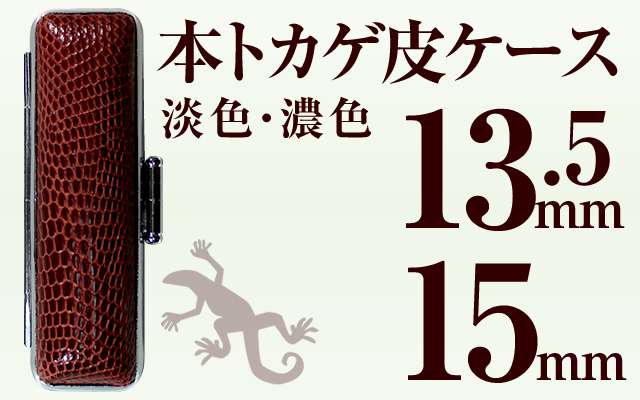 本トカゲ皮ケース 13.5&15用