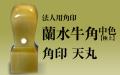 蘭水牛角・中色(極上) 法人用角印■手彫り仕上げ・13書体から(18mm・21mm・24mm)