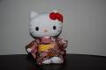 ハローキティ/和風キティ/Hello Kitty/【桜22】キティぬいぐるみ(座)エンジ