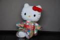 ハローキティ/和風キティ/Hello Kitty/【桜22】キティぬいぐるみ(座)ブルー
