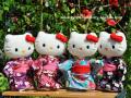 ハローキティ/和風キティ/Hello Kitty/【流水】キティぬいぐるみ(立)4色♪