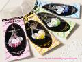 和風キティ/Hello Kitty/【5色】パワーストーンキャンディグラスストラップ