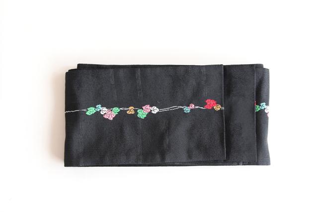 つた半巾帯(黒)