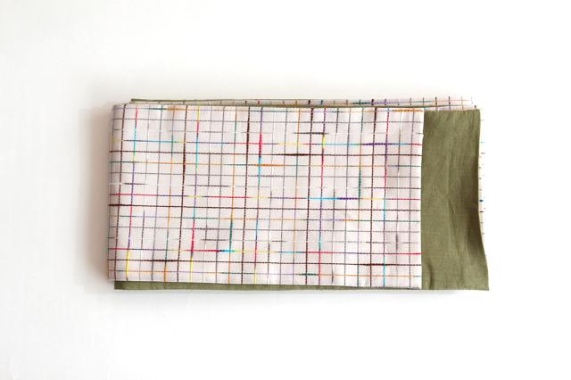 半巾織 絣紅梅