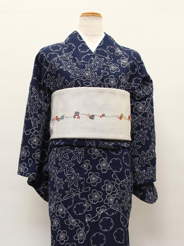 裂取草花(カラミ織)