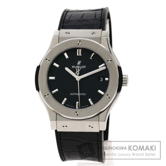 premium selection bf8bc decf0 HUBLOT ウブロ 551.NX.1171.LR クラシックフュージョン チタニウム 腕時計 チタン/アリゲーターラバー メンズ