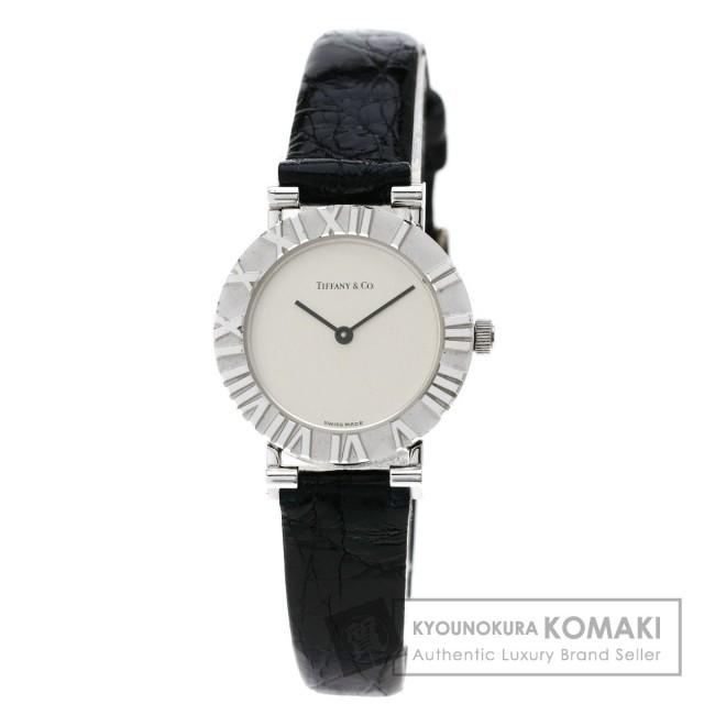 save off e022e ef069 TIFFANY&Co. ティファニー アトラス 腕時計 シルバー/革 レディース