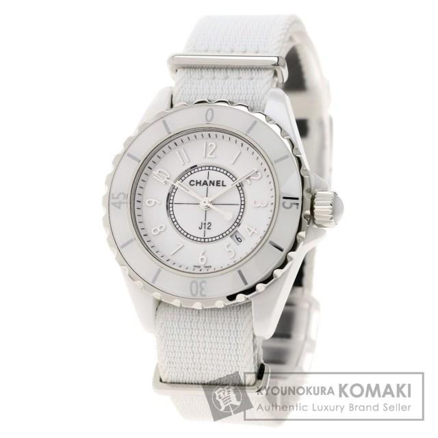 huge discount cc64e b3096 CHANEL シャネル H4656 J12-G10 GLOSS 日本未発売 腕時計 セラミック/ナイロン レディース ★★