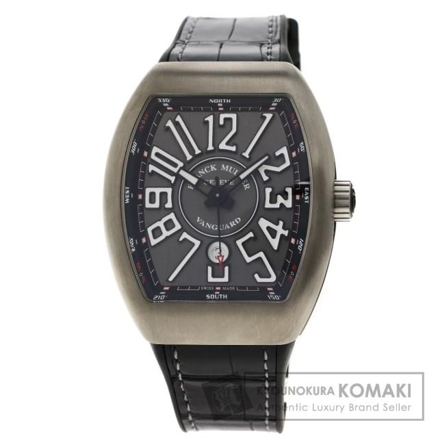 meet b1c7c 89403 FRANCK MULLER フランクミュラー V45SCDT ヴァンガード 腕時計 チタン/クロコダイル/ラバー メンズ