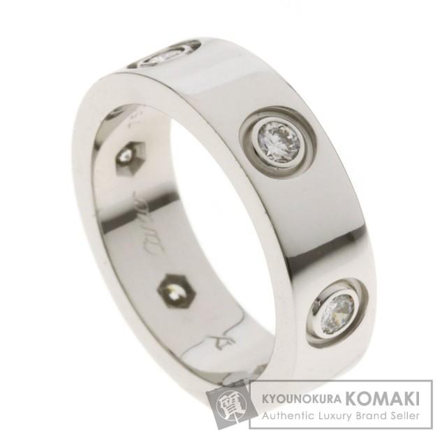 0b7d51e1fd535 CARTIER カルティエ ラブリング フルダイヤモンド #50 リング・指輪 K18ホワイトゴールド レディース