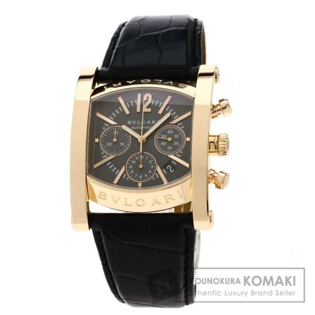 lowest price e62c5 3a267 BVLGARI ブルガリ AAP48GCH アショーマ 腕時計 K18ピンクゴールド/革 メンズ