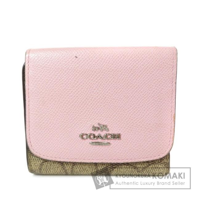 e38e41cd7a5c COACH コーチ Wホック 二つ折り財布(小銭入れあり) PVC/レザー レディース