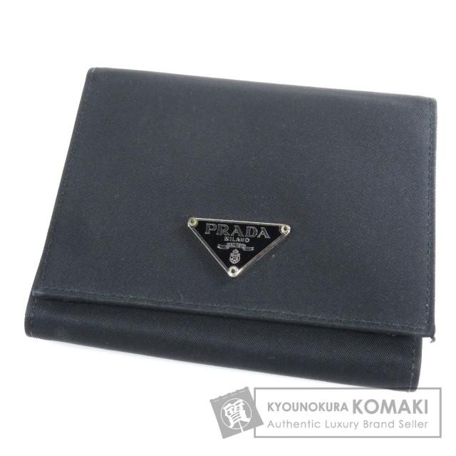 1df095cad6b4 PRADA プラダ 三つ折り 二つ折り財布(小銭入れあり) ナイロン素材 レディース