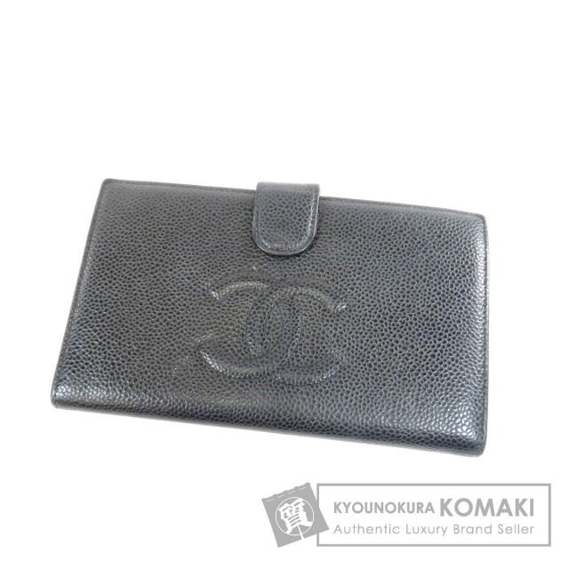 914cd016ec29 CHANEL シャネル ココマーク 二つ折り財布(小銭入れあり) キャビアスキン レディース