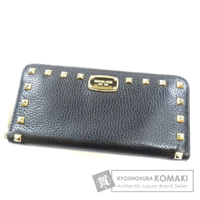 62f9cb122288 Michael Kors マイケルコース ロゴプレート 長財布(小銭入れあり) レザー レディース
