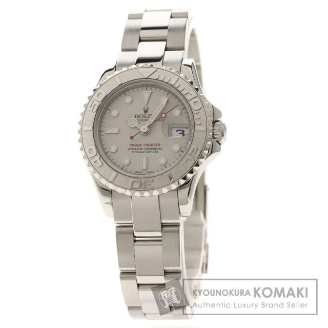 official photos 773f1 51f5b ROLEX ロレックス 169622 ヨットマスター ロレジウム 腕時計 ステンレススチール/SS/プラチナ レディース