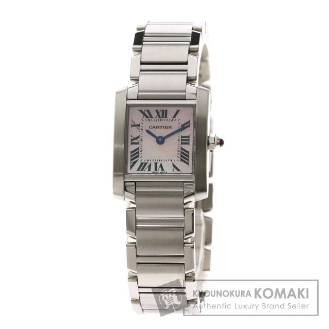 new product a2833 ec76e CARTIER カルティエ WG51208Q3 タンクフランセーズSM 腕時計 ステンレススチール/SS レディース
