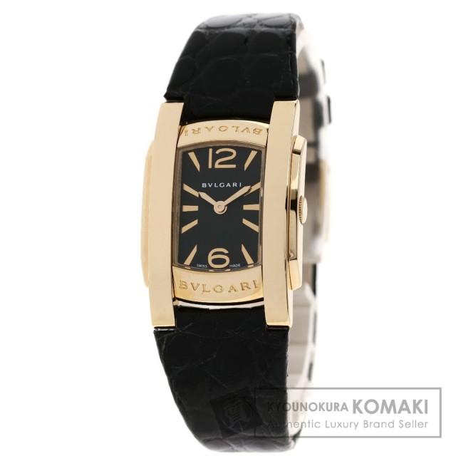 reputable site b427a 3c25d BVLGARI ブルガリ AAP31G アショーマ 腕時計 K18ピンクゴールド/革 レディース