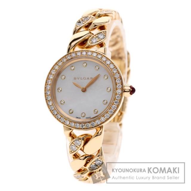 online retailer b1380 ded48 BVLGARI ブルガリ BBCP31G カテーネ 12Pダイヤモンド 腕時計 K18ピンクゴールド/K18PG/ダイヤモンド レディース