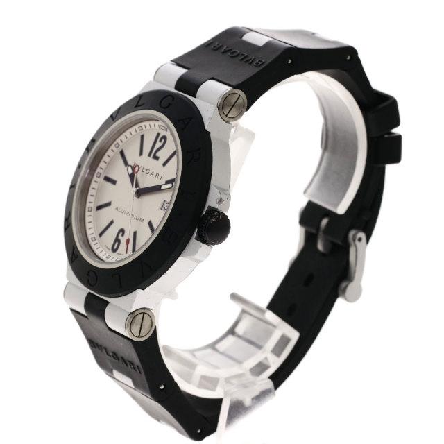 official photos cdcc3 8037d BVLGARI ブルガリ AL44TAVD アルミニウム 腕時計 アルミニウム/ラバー メンズ