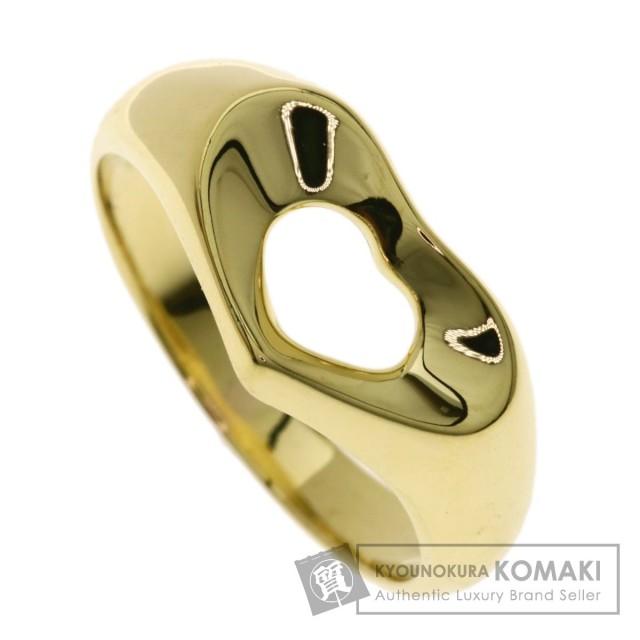 online store df573 4474f TIFFANY&Co. ティファニー オープンハート リング・指輪 K18イエローゴールド レディース
