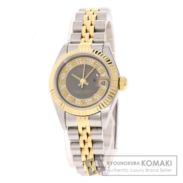 7a4eb2e229 ROLEX ロレックス 79173MR デイトジャスト ミリヤード ダイヤモンド 腕時計 ステンレススチール/SSxK18YG レディース