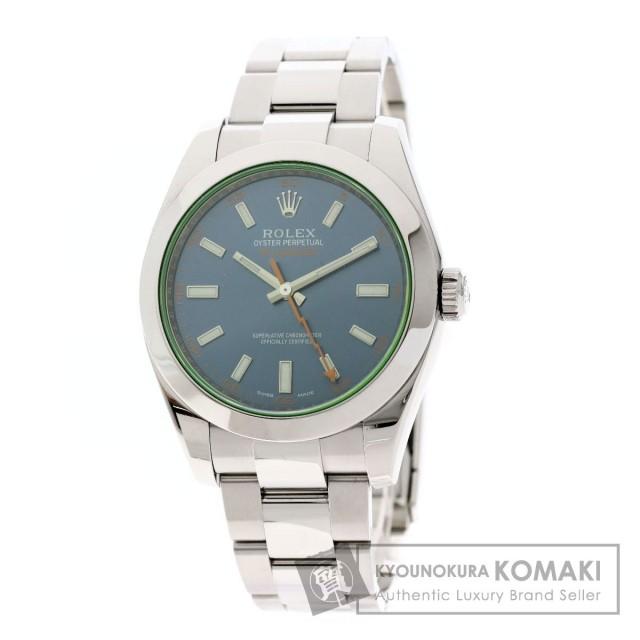 online retailer 94aff 9966c ROLEX ロレックス 116400GV ミルガウス Zブルー 腕時計 ステンレススチール/SS レディース