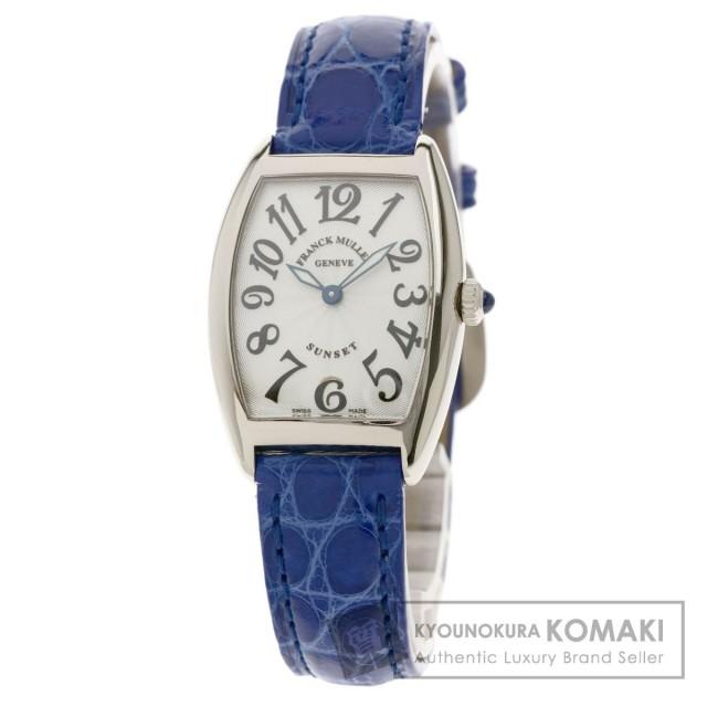 first rate 9cfcb 1951e FRANCK MULLER フランクミュラー 1752QZ サンセット 腕時計 K18ホワイトゴールド/革 レディース
