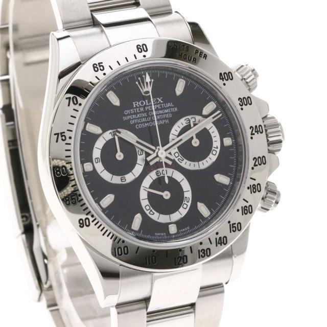 new product bd7a3 2f788 ROLEX ロレックス 116520 コスモグラフ デイトナ 鏡面バックル 腕時計 ステンレススチール/SS メンズ