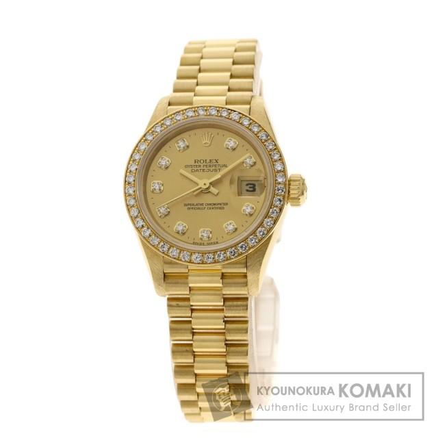 new arrival 7307e 17923 ROLEX ロレックス 69138G デイトジャスト 腕時計 K18イエローゴールド/K18YG/ダイヤモンド レディース