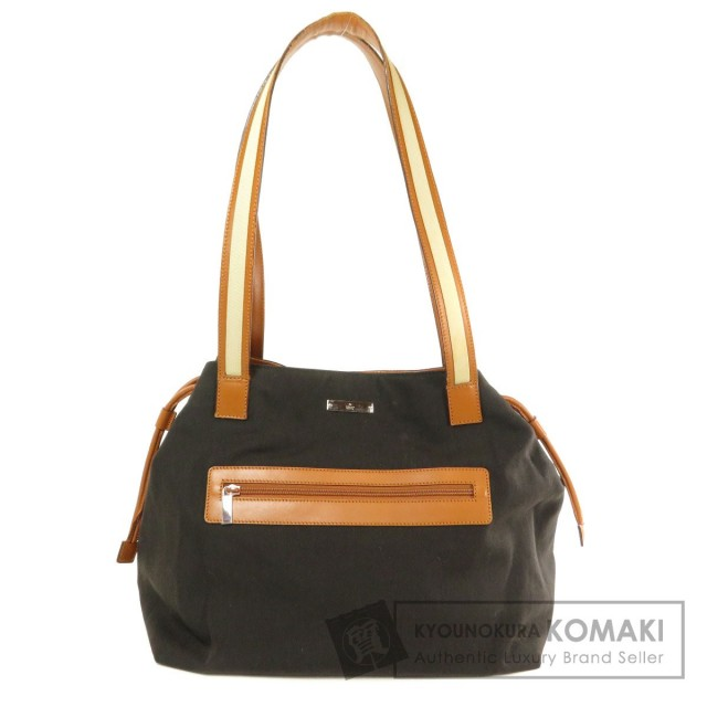finest selection 1a4c2 d80ba GUCCI グッチ 0190459 フロントポケット トートバッグ キャンバス レディース