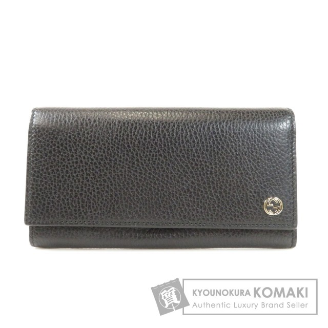 competitive price 7d6cd 451fe GUCCI グッチ 449279 ロゴマーク 長財布(小銭入れあり) レザー メンズ