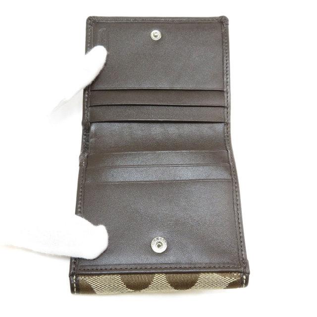 b322126c5d48 COACH コーチ シグネチャー Wホック 二つ折り財布(小銭入れあり) キャンバス レディース