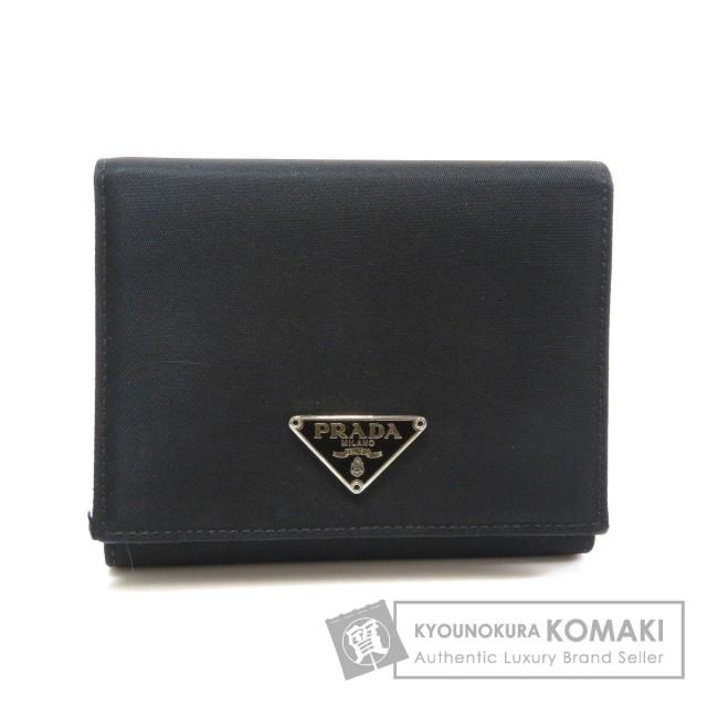 8333919f3af5 PRADA プラダ M176 三つ折り 二つ折り財布(小銭入れあり) ナイロン素材 レディース