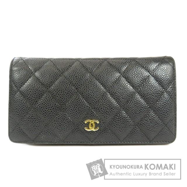 buy popular 094e9 c820a CHANEL シャネル ココマーク 長財布(小銭入れあり) キャビアスキン レディース